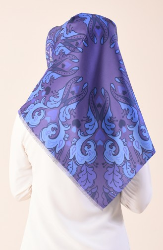 Printed Taffeta Scarf Purple 95301-03