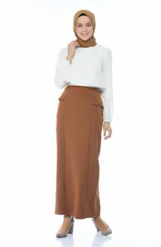 Lined style Skirt Cinnamon Color 8K2810000-01