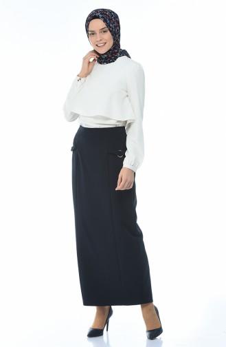 Lined style Skirt Navy Blue 8K2810000-03