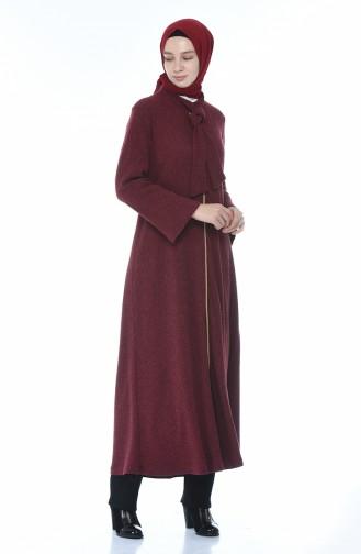 Tricot Abaya Burgundy 1300-03