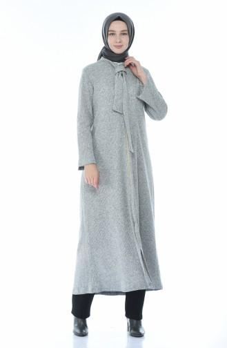 Tricot Abaya Gray 1300-06
