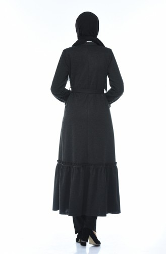 Frilly Abaya Black 8214-04