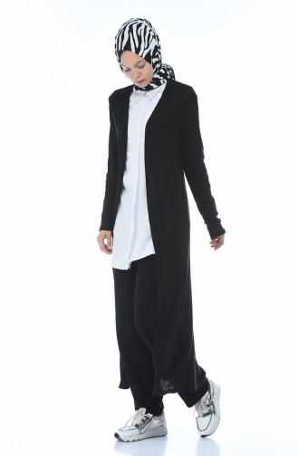 Long Cardigan Black 1095-01