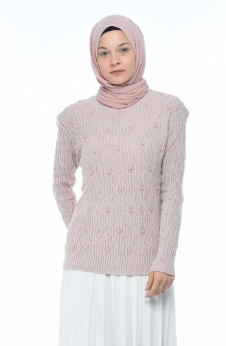 Tricot Pearl Sweater Powder 7701-10