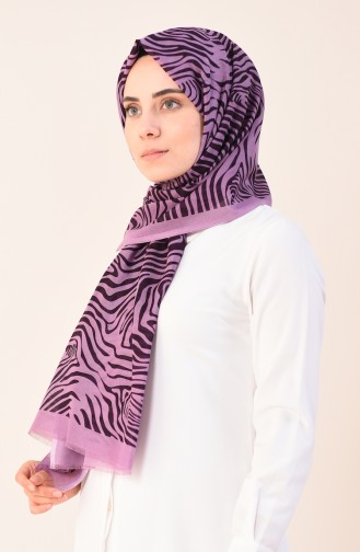 Patterned Cotton Shawl Magenta 901543-09