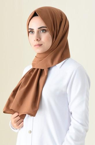 Plain Cotton Shawl Brown 3246-01