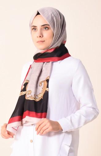Desenli Pamuk Şal 95299-06 Açık Vizon 95299-06