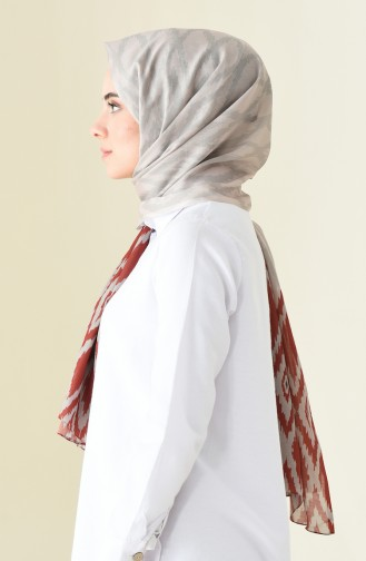 Patterned Cotton Shawl Beige 95300-08