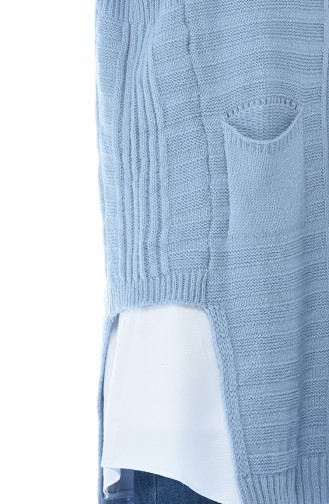 Salopet Tricot Sweater Blue 8028-01