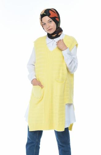 سترة تريكو أصفر 8028-02