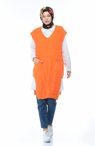 سترة تريكو برتقالي 8028-04