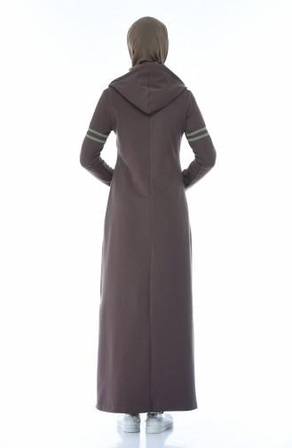 فستان بُني 9088-03