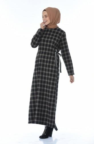 Plaid Winter Dress Mink 0325-03