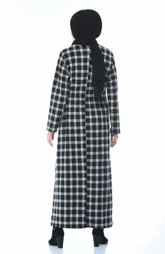 Robe Hivernal a Carreaux 0325-04 Gris 0325-04
