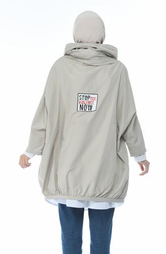 Hooded Raincoat Beige 1594-03
