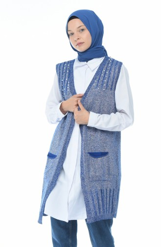 Silvery Tricot Vest Admiral 1953-06