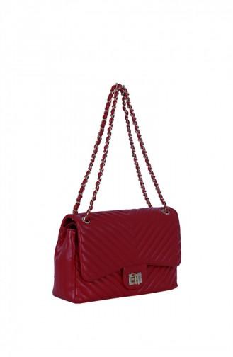 Lamberti 7004 Kadın Çapraz Postacı Çanta Kırmızı