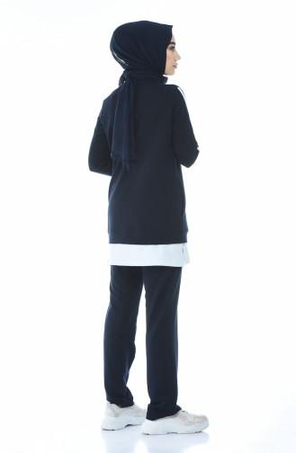 بيجامة الرياضة أزرق كحلي 9104-03