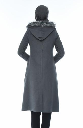 Fur Stamp Coat Gray 71187A-01