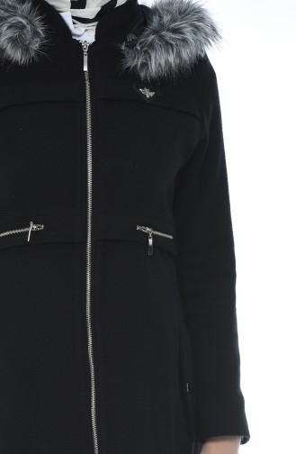 Fur Stamp Coat Black 71187A-02