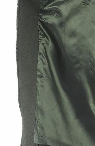 معطف كاكي مزين بالفرو 71187A-04