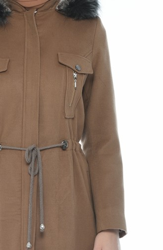 Hooded Lined Coat Biscuit color 9014-03