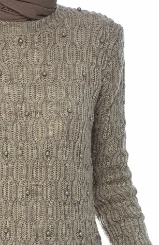 Trikot Perlen Pullover 7701-01 Nerz 7701-01
