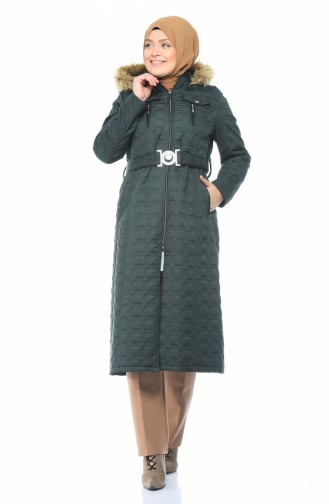 Big Size Quilted Coats Green 9010A-01