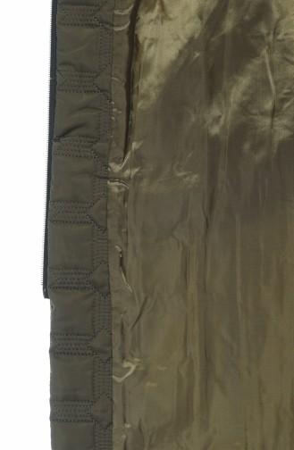 Manteaux Matelassé Grande Taille 9010A-02 Vert Khaki 9010A-02
