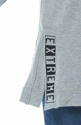 Hooded Sweatshirt Gray 1582-02