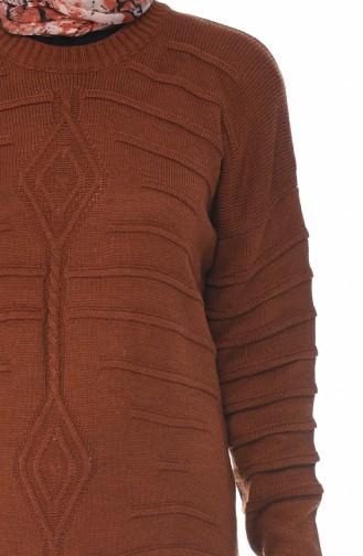 Tricot Dress Brick 0324-05