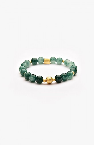 Kanada Yeşil Ceyid Doğal Taşlı Bileklik 08-3010 08-3010