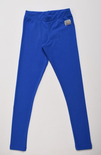 Saks-Blau Kinder und Baby-Leggings 0085-01