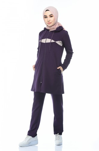 Purple Sweatsuit 9114-01