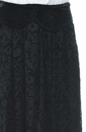 تنورة منقوشة أسود 3K2302600-01