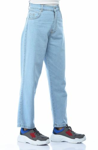 بنطال جينز بجيوب أزرق 2599-04