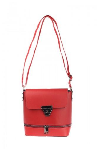 حقيبة كتف نسائية أحمر 3008-06