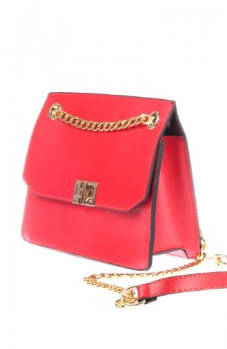 حقيبة كتف نسائية أحمر 4009-06