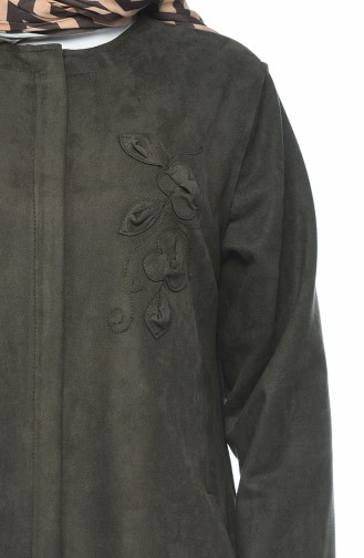Pardessus Daim avec Poches Grande Taille 0386-03 Khaki 0386-03