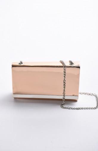 حقيبة سهرة نسائية جلد لامع باودر 0506-03