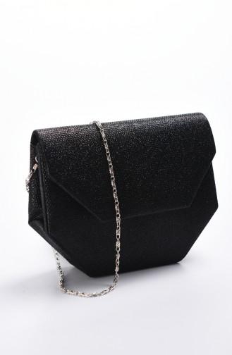 حقيبة سهرة نسائية كوبرا أسود 0507-04