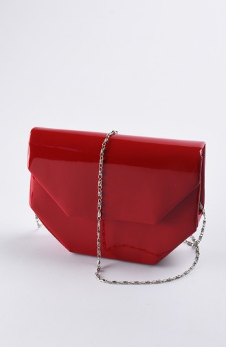 Women Patent Leather Evening Bag Red 0507-04