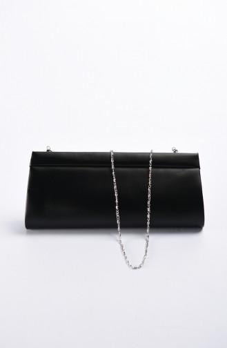 حقيبة سهرة نسائية قماش أسود 0508-01