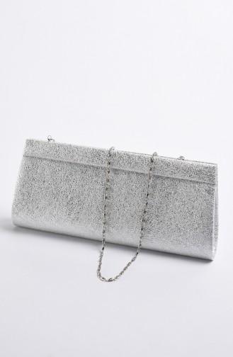 Damen Kristall Abendkleid Tasche 0508-02 Silber Grau 0508-02