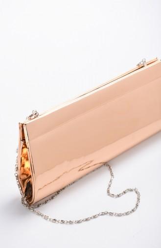 حقيبة سهرة نسائية جلد مرآة باودر 0508-03