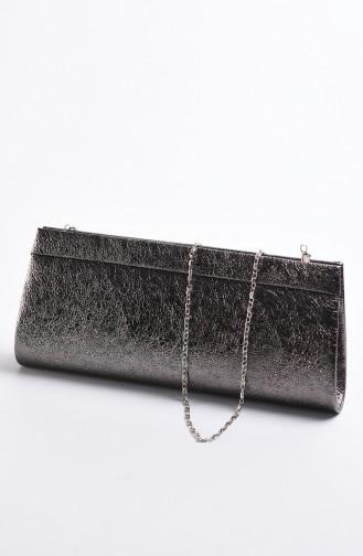 Damen Kristall Abendkleid Tasche 0508-05 Platinum 0508-05