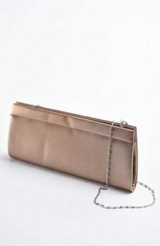 Damen Abendkleid Tasche aus Stoff 0508-05 Bronzfarbig 0508-05