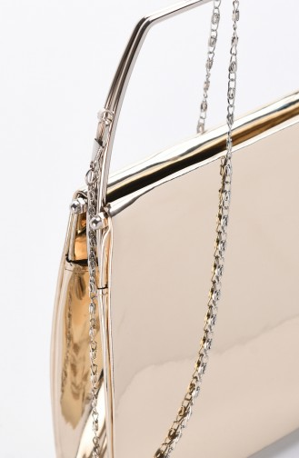 Bayan Ayna Abiye Çanta 0509-01 Altın Rengi 0509-01