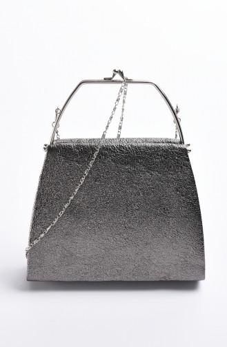 حقيبة سهرة نسائية كريستال لون بلاتيني 0509-04