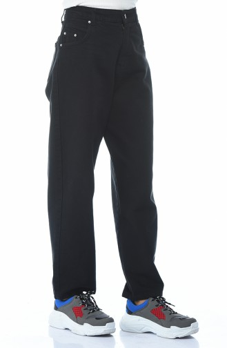 Pantalon Jean avec Poches 2599-02 Noir 2599-02